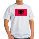 Albania Blank Flag Ash Grey T-Shirt