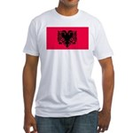 Albania Blank Flag Fitted T-Shirt