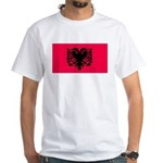 Albania Blank Flag White T-Shirt