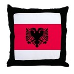 Albania Blank Flag Throw Pillow