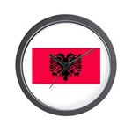 Albania Blank Flag Wall Clock