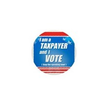 Taxpayer says STOP! Mini Button (100 pk)
