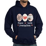 Peace Love Journalism Hoodie (dark)
