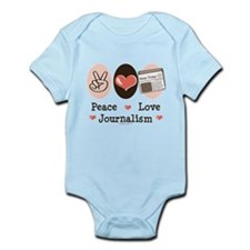 Peace Love Journalism Infant Bodysuit