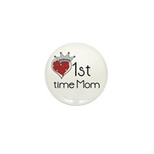 Princess 1st Time Mom Mini Button (100 pack)