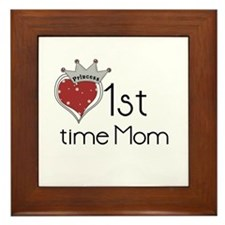 Princess 1st Time Mom Framed Tile
