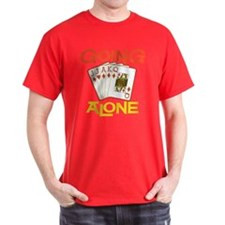 Euchre Going Alone Black T-Shirt