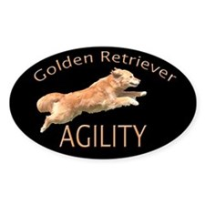 Golden Retriever Agillity Black Decal