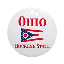 Ohio Buckeye State Ornament (Round)