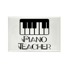Piano Music Teacher Rectangle Magnet