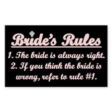 Bride's Rules Rectangle Stickers