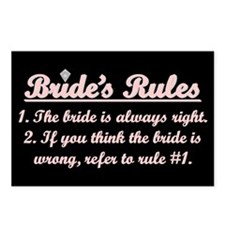 Bride's Rules Postcards (Package of 8)