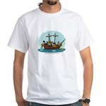 Boston Tea Party White T-Shirt