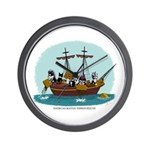 Boston Tea Party Wall Clock