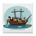 Boston Tea Party Tile Coaster
