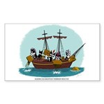 Boston Tea Party Rectangle Sticker 50 pk)