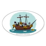 Boston Tea Party Oval Sticker (10 pk)