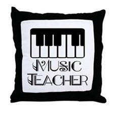 Classic Music Teacher Throw Pillow