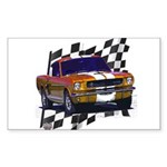 1966 Mustang Rectangle Sticker 10 pk)
