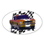 1966 Mustang Oval Sticker (10 pk)