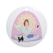 Busy Zen Mom Ornament (Round)