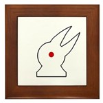 Albino Rabbit/Crow Framed Tile