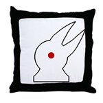 Albino Rabbit/Crow Throw Pillow