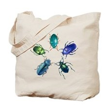 Five Shiny Beetles Tote Bag
