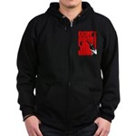 Don't Shoot Zip Hoodie (dark)