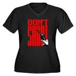 Don't Shoot Women's Plus Size V-Neck Dark T-Shirt