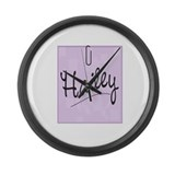 Funny Hailey Large Wall Clock