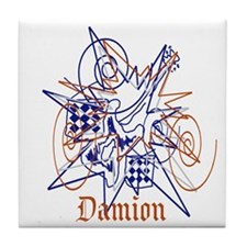 Cute Damion's Tile Coaster