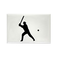 baseball player Rectangle Magnet (10 pack)