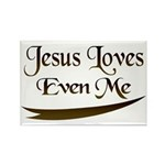 Jesus Loves Even Me Rectangle Magnet