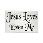 Jesus Loves Even Me Rectangle Magnet (100 pack)