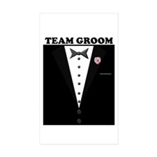 Team Groom Rectangle Sticker 10 pk)