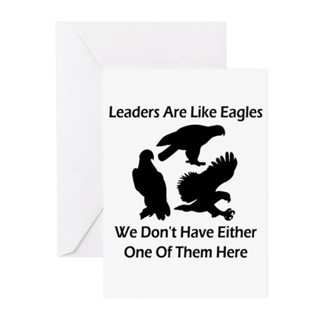 Leaders Are Like Eagles Greeting Cards (Pk of 20)