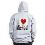 I Love Michael (Back) Zip Hoodie