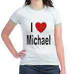 I Love Michael (Front) Jr. Ringer T-Shirt