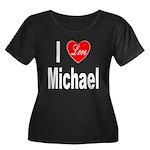 I Love Michael (Front) Women's Plus Size Scoop Nec