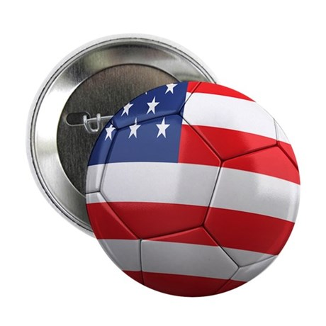 "USA Soccer Ball 2.25"" Button"