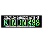 Random Acts of Kindness Bumper Sticker