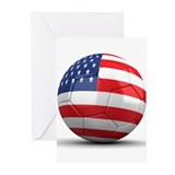 USA Soccer Ball Greeting Cards (Pk of 10)
