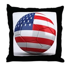 USA Soccer Ball Throw Pillow