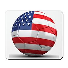 USA Soccer Ball Mousepad