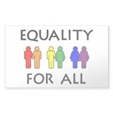 Equality Rectangle Sticker 10 pk)