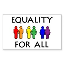 Equality Rectangle Stickers