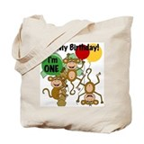 Monkey 1st Birthday Tote Bag