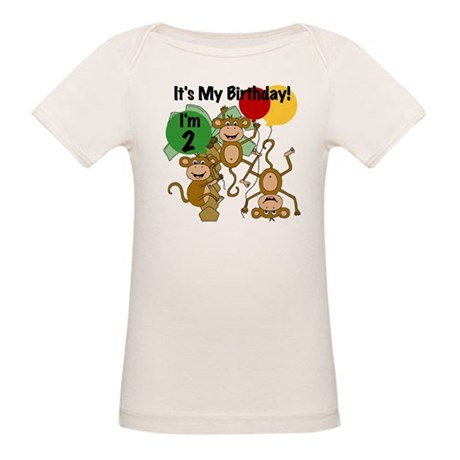 Monkey 2nd Birthday Organic Baby T-Shirt