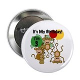 "Monkey 3rd Birthday 2.25"" Button"